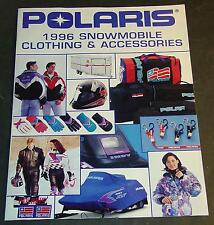 1996 POLARIS SNOWMOBILE CLOTHING & ACCESSORIES SALES BROCHURE 20 PAGES  (755)