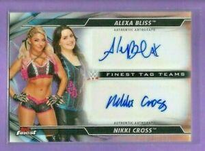 2020 TOPPS WWE FINEST ALEXA BLISS NIKKI CROSS REFRACTOR DUAL AUTO