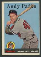 1958 Topps #223 Andy Pafko EXMT/EXMT+ Braves UER 23997