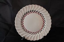 Myott Staffordshire 10 Inch Plate in the Regency Pattern Cream with Silver/Red