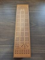 Vintage ACME Deluxe 3 Lane Cribbage Board Model X-302 Canada (board only)
