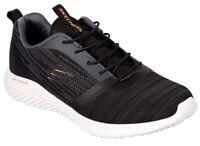 SKECHERS 52504 BOUNDER Memory Foam scarpe uomo sportive sneakers tessuto nero
