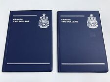 Lot Of 4 Canada Coin Collection Books $2 Dollars Two 48 Spaces Coins Collecting