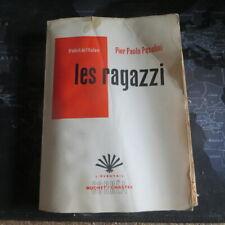 10308 Les Ragazzi par Pier Paolo Pasolini – L'éventail Corréa – Buchet/Chastel