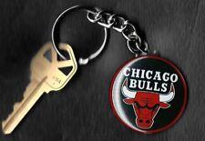 Chicago Bulls Logo Chicago Bulls Bull Red Border Keychain Key Chain