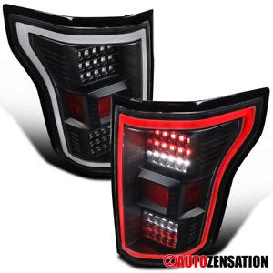 For 2018 2019 2020 Ford F150 Black LED DRL Tube Rear Tail Lights Brake Lamps