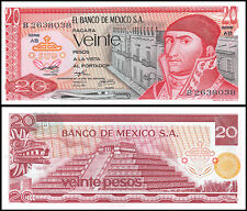 Mexico 20 Pesos, 1973, P-64b, UNC, Series-AB