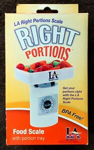 LA Weightloss Right Portions Food Scale & Portion Tray - New In Box