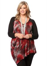TS TAKING SHAPE sz XL (or 22 ) womens Icicle Print Tunic Top NEW + TAGS [#2355]