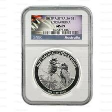 New 2013P Australian Silver Kookaburra 1oz NGC MS69 Graded Slab Coin