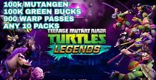 Teenage Mutant Ninja Turtles Legends game Android iOS Bucks Mutagen Warp epic