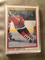 1991 Jeremy Roenick O-Pee-Chee OPC Premier Hockey Card Rookie #100 Blackhawks