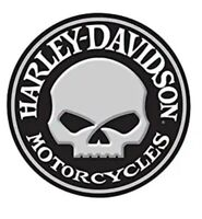 HARLEY DAVIDSON METAL TIN SIGN ROUND SKULL GARAGE WALL DECOR