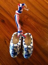 Dutch Delft Blue Porcelain Hand painted  Clog Pair