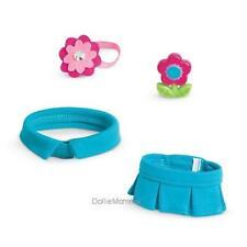 New American Girl Preppy Pet Outfit~Skirt Collar Headband Flower Toy~Halloween