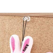 200 Clear Push Pins Transparent Drawing Pins Notice Board Cork Board Office Z