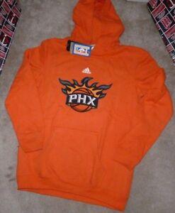 NEW ADIDAS NBA Phoenix Suns Hoodie Hooded Sweatshirt L Large 14 16 NEW NWT