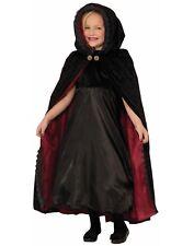 Vampiresa Gótica Niños Niñas Black Witch Disfraz Halloween Capa