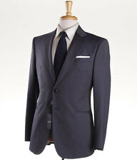 NWT $3195 GIORGIO ARMANI BLACK LABEL 'Taylor' Blue Wool-Silk Suit Slim 46 R