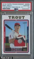 2018 Topps Transcendent 2019 VIP Party Mike Trout 3-Color Patch 1/1 PSA 10 POP 1