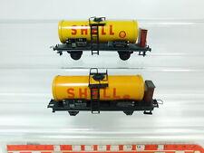 BP746-0, 5 #2x Trix Express H0/Dc Blech-Kesselwagen Shell 922 572 Db, Good