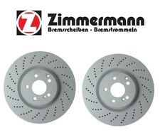 Mercedes W204 W212 C63 AMG E550 Pair Set of 2 Front Disc Brake Rotors Zimmermann