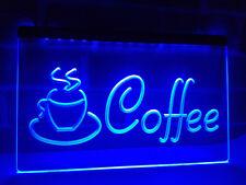 Coffee Tea Drink Shop Restaurant Neon Sign Light Plate Flag Bar Club Gift Pub