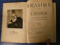 Brahms Lieder eine Stimme mit Klavierbegleitung Band 1 Hohe Stimme B-25031