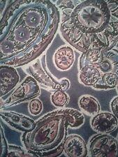 Mens Necktie Gray and Purple Geoffrey Beene Silk Floral Paisley Tie