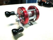 ABU GARCIA AMBASSADEUR FISHING REEL - `RED` 5000 - CLEAN & WORKS GOOD