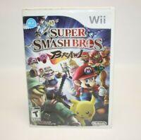 Super Smash Bros Brawl Video Game Disc & Case (Nintendo Wii, 2008) Complete