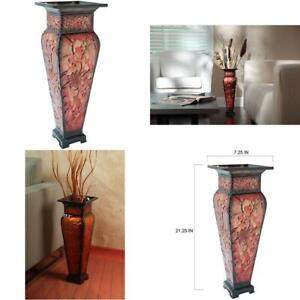 21.25 Inch Tall Embossed Floor Vase . Ideal Gift For Home Office Party Weddings