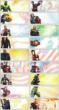 60 Avengers Pictures personalised name label (Large size)