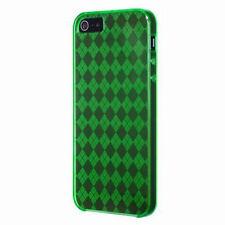 iPhone SE iPhone 5 5S Gel Case - Diamond / Argyle Pattern - Green