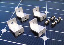 Set 4 Pcs Kit Solar Panel Z Bracket Mount Mounting Flat Roof Wall Aluminum