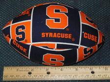 "SYRACUSE UNIVERSITY fabric football - 7"" long, NEW, hand-crafted"