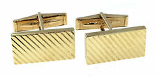 Tiffany & Co. Solid 14K Yellow Gold Textured Cufflinks