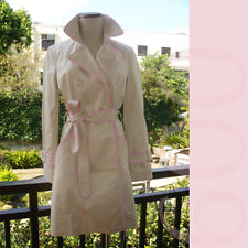 Girlish COACH Beige with Pink Trim Trench Coat!S/M