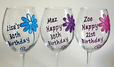 Personalised Birthday Gifts 18th 21st 30th Girls Friends Wine Champagne Glasses