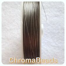 50m roll Tiger Tail - Silver Grey - 0.45mm, beading stringing wire