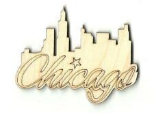 Chicago Skyline - Laser Cut Wood Shape USA4
