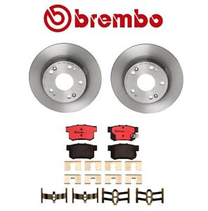 Brembo Rear Brake Kit Ceramic Pads Disc Rotors For Acura TSX Honda Accord