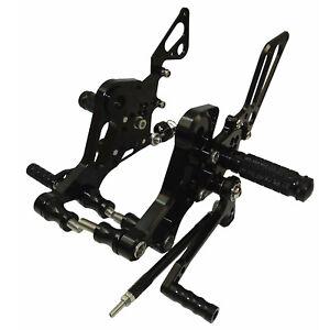 Noir commandes reculées repose-pieds kit rearset pour DUCATI Monster 696 795 796