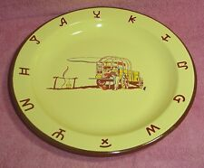 Collectible Monterray Western Ware Round Chuckwagon Enamelware Plate Plates