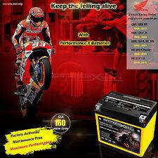 AGM Motorcycle Battery Honda NSR125 NSR250 NS400R CBR125R YTZ7S YTX5L 12V 7Ah
