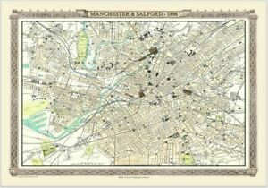 Manchester & Salford Royal Atlas Collection 1898 1000 Piece Jigsaw Puzzle (jg)