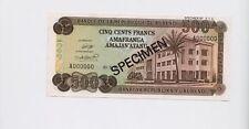 SPECIMEN: BURUNDI: BRB 500 Francs Banknote 1968 ( Pick 24) UNC condition