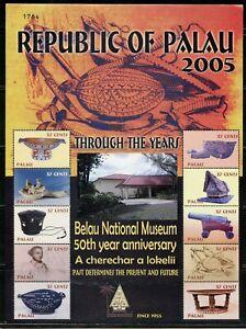 PALAU SCOTT # 843  THROUGH THE YEARS BELAU NAT'L MUSEUM  SHEET  MINT NH