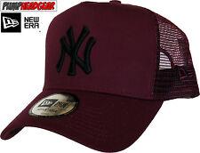 New York Yankees New Era League Essential Maroon Trucker Cap