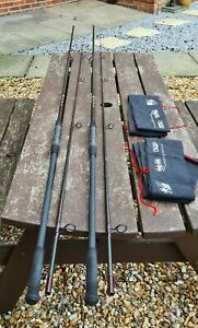 A STUNNING SCARCE PAIR OF VINTAGE DAM ANDY LITTLE CARP RODS THESE ARE 13FT 2.5